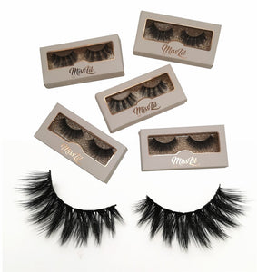 Miss Lil Usa Eyelashes #15 Cream Collection - The Pink Makeup Box