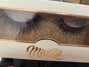 Miss Lil Usa Eyelashes #57 Cream Collection - The Pink Makeup Box