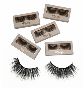 Miss Lil Usa Eyelashes #13 Cream Collection - The Pink Makeup Box