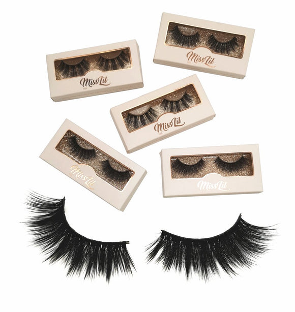 Miss Lil Usa Eyelashes #11 Cream Collection