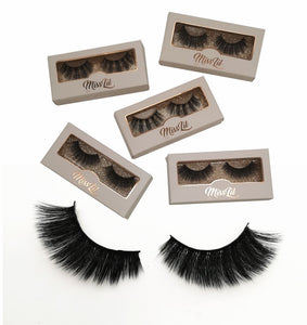 Miss Lil Usa Eyelashes #19 Cream Collection - The Pink Makeup Box
