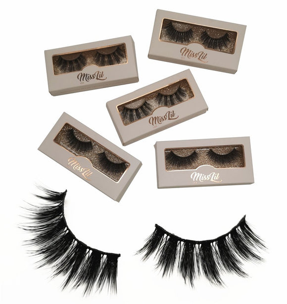 Miss Lil Usa Eyelashes #14 Cream Collection