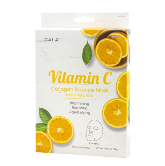 ESSENCE FACIAL MASKS: VITAMIN C COLLAGEN (5 PKS)