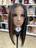 54 - Free Part 13x4 Lace Front Wig - The Pink Makeup Box