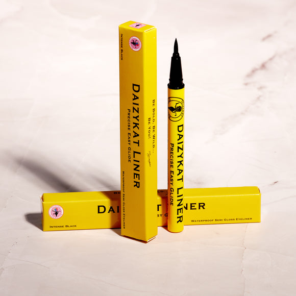 DaizyKat Liner - Waterproof Semi Gloss Liner - Yellow Tube (6 or 12 Pieces) - The Pink Makeup Box