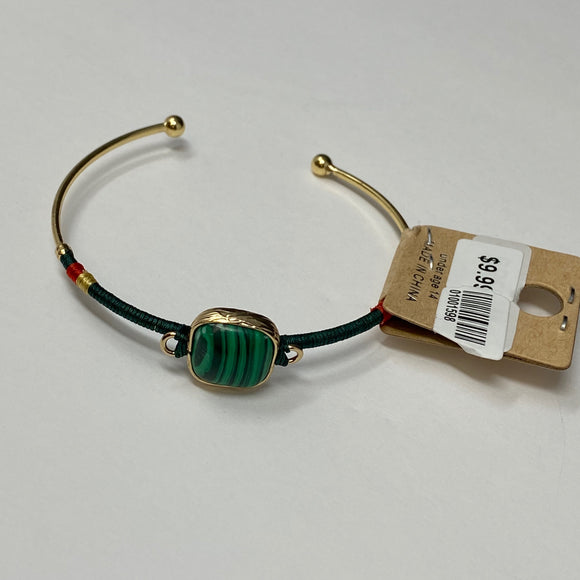 #14 - Green Open Bracelet - The Pink Makeup Box