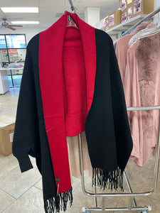 Red & Black Coat ONE SIZE