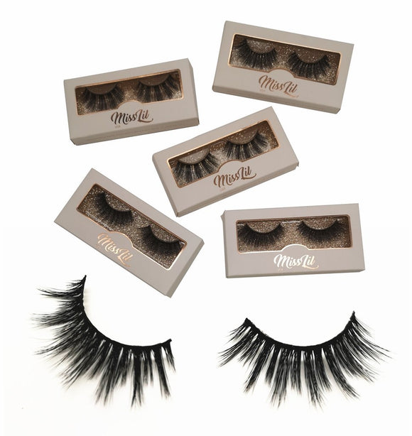 Miss Lil Usa Eyelashes #10 Cream Collection - The Pink Makeup Box