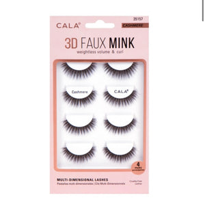 3D FAUX MINK LASHES: CASHMERE (4 Pair Pack)