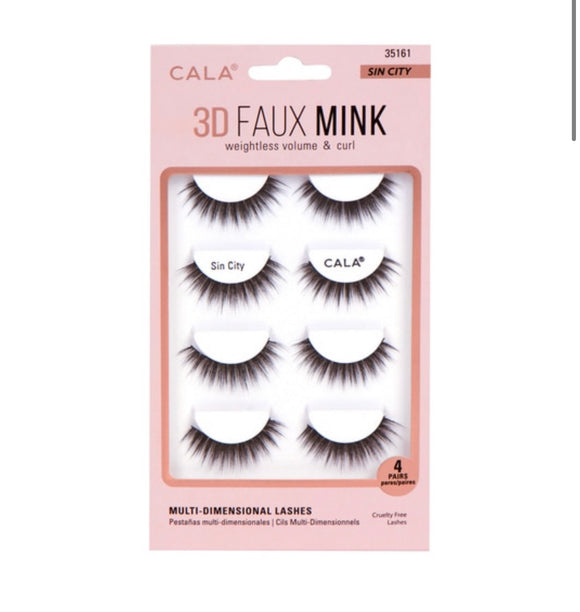 3D FAUX MINK LASHES: SIN CITY (4 Pair Pack)