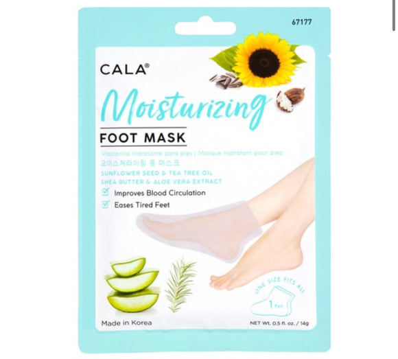 MOISTURIZING FOOT MASK SOCKS: SUNFLOWER SEED/TEA TREE OIL (1 PC