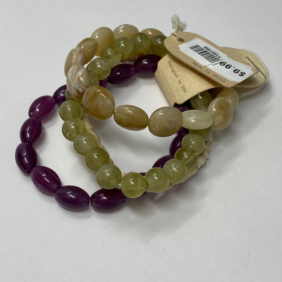 #15 - Green & Purple Bracelets