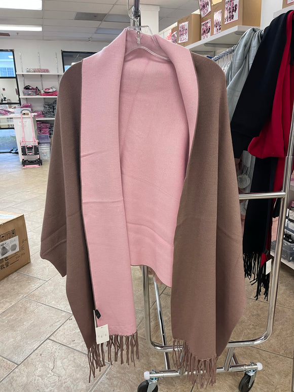 Pink and Brown Coat ONE SIZE