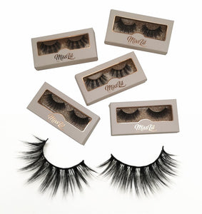 Miss Lil Usa Eyelashes #28 Cream Collection