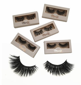 Miss Lil Usa Eyelashes #7 Cream Collection - The Pink Makeup Box