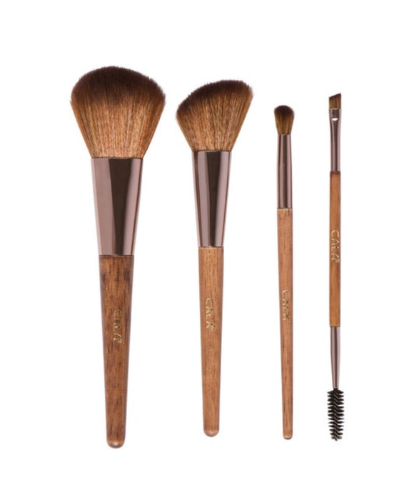 DARK NATURAL BAMBOO FACE & EYE COMPLEXION SET (4PCS.)