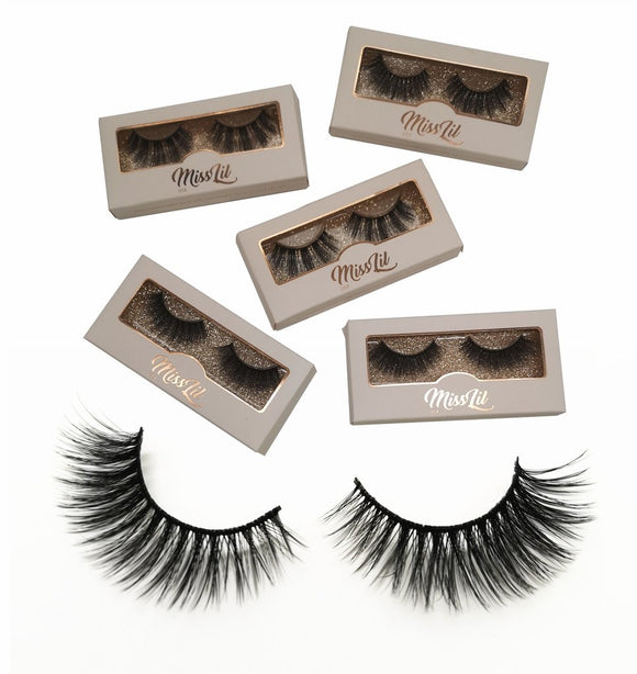 Miss Lil Usa Eyelashes #33 Cream Collection - The Pink Makeup Box