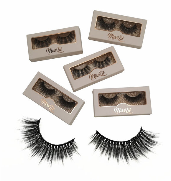 Miss Lil Usa Eyelashes #31 Cream Collection - The Pink Makeup Box