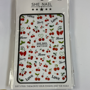 CHERRY NAIL DECALS