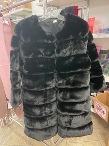 BLACK WINTER COAT (ONE SIZE) - The Pink Makeup Box