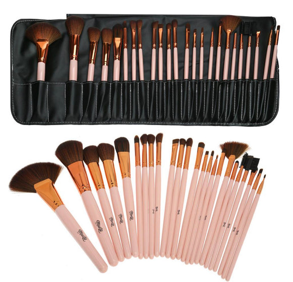 READY FOR MAKEUP brush set 24 PCS/SET (LIGHT PINK)