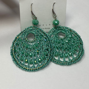 #17 - Green Earrings - The Pink Makeup Box