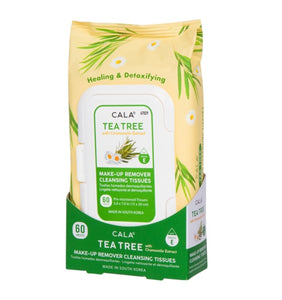 CALA MAKE-UP REMOVER CLEANSING TISSUES: TEA TREE (60 SHEETS)