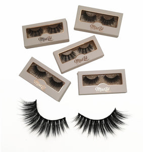 Miss Lil Usa Eyelashes #20 Cream Collection - The Pink Makeup Box