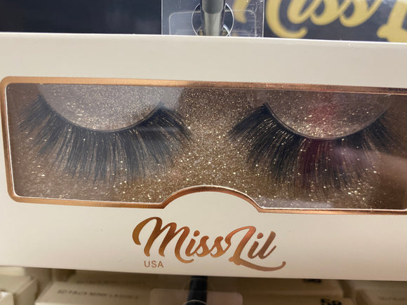 Miss Lil Usa Eyelashes #51 Cream Collection - The Pink Makeup Box