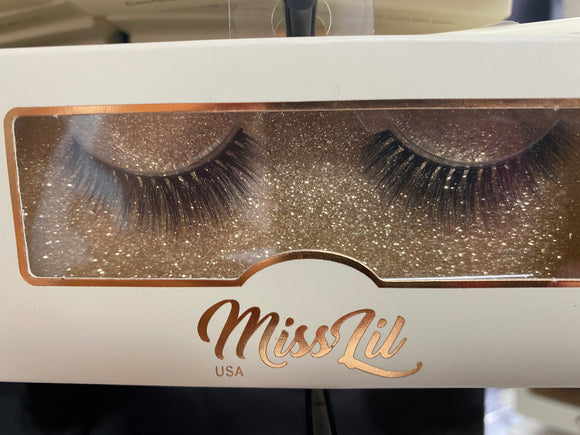 Miss Lil Usa Eyelashes #60 Cream Collection