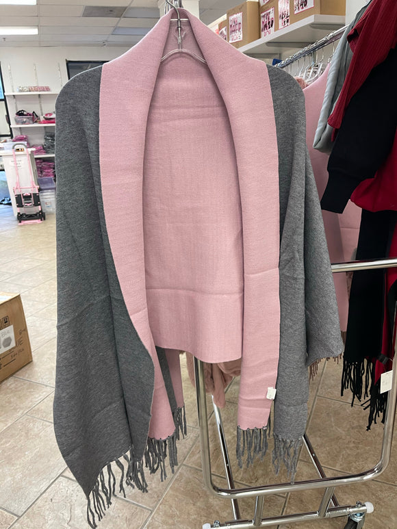 Pink & Grey Coat (ONE SIZE) - The Pink Makeup Box