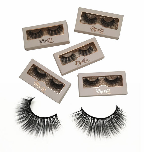 Miss Lil Usa Eyelashes #38 Cream Collection - The Pink Makeup Box