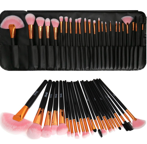 READY FOR MAKEUP brush set 24 PCS/SET (Black & Pink)