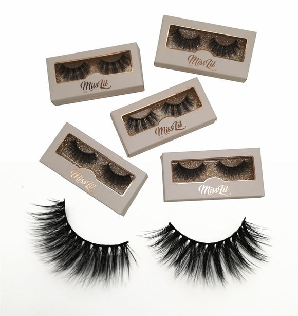 Miss Lil Usa Eyelashes #16 Cream Collection - The Pink Makeup Box
