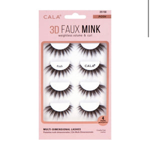 3D FAUX MINK LASHES: POSH (4 Pair Pack) - The Pink Makeup Box