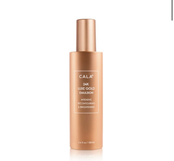 24K LUXE GOLD EMULSION: INTENSIVE RECONTOURING & BRIGHTENING (100ml) - The Pink Makeup Box