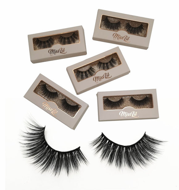 Miss Lil Usa Eyelashes #23 Cream Collection