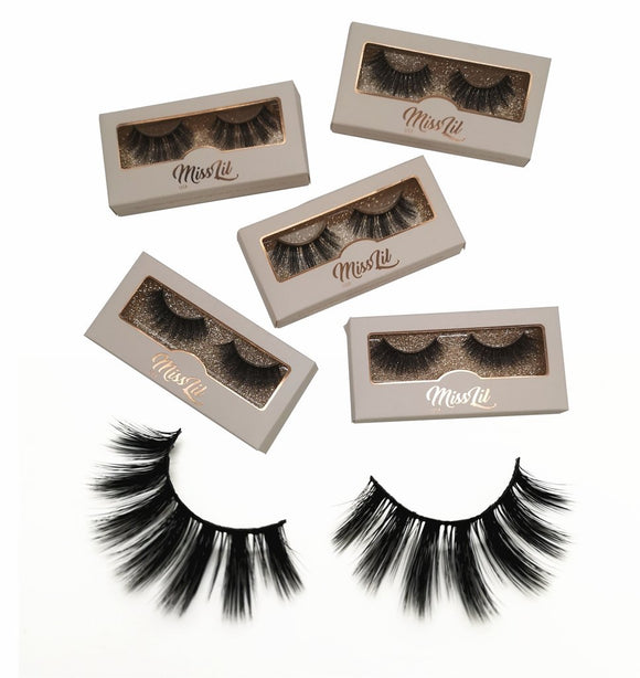 Miss Lil Usa Eyelashes #21 Cream Collection