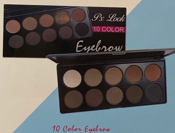 10 Color Eyebrow Palette