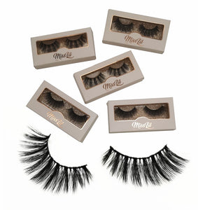 Miss Lil Usa Eyelashes #32 Cream Collection - The Pink Makeup Box