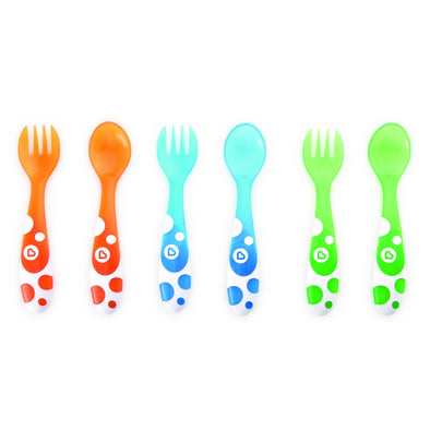 Multi Coloured Forks & Spoons 6 pack