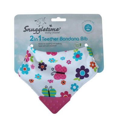 2 in 1 Teether Bandana Bib  - Butterfly
