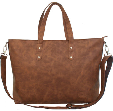 Jeankelly Tan Laminated Shopper - Lulla-Buy