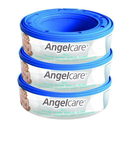 Angelcare Nappy Disposal Round Refill Cartridge - 3 pack