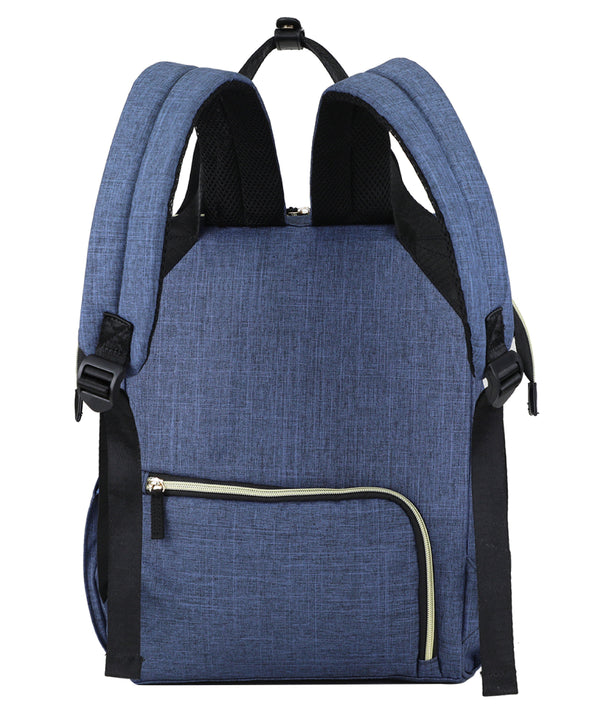 Oxford Backpack Nappy Bag - Blue