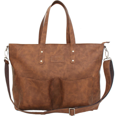 Jeankelly Tan 2 Pocket Laminated Shopper