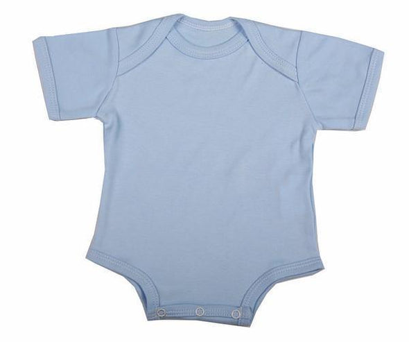 Short-Sleeved Baby Onesie With Envelope Neck