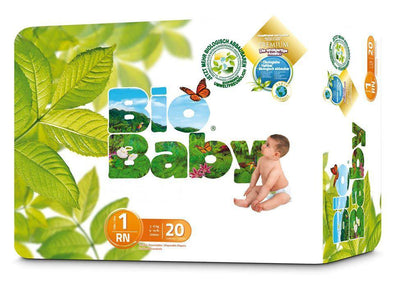 Bio Baby Biodegradable Nappies - Size 1 (3-6kgs) - 20 Nappies