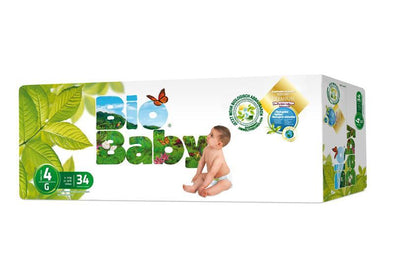 Bio Baby Biodegradable Nappies - Size 4 (9-13 kgs) - 34 Nappies