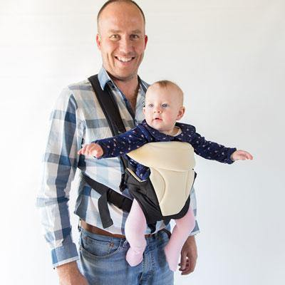 BabyWombWorld Classic Front & Back 3-in-1 Baby Carrier - Cream